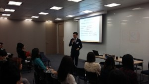 Alan Lai, Operations Manager, inSkin Aesthetic Solutions, Philip Wain, sharing at the event.